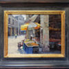 "American Legacy Fine Arts presents ""Corner Market; Chikan, China"" a painting by Keith Bond."