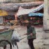 "American Legacy Fine Arts presents ""Rubbish Collector; Small Village near Kaiping, China"" a painting by Keith Bond."