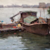 "American Legacy Fine Arts presents ""Tied Together; Kaiping, China"" a painting by Keith Bond."