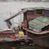 """American Legacy Fine Arts presents """"Tied Together; Kaiping, China"""" a painting by Keith Bond."""