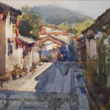 "American Legacy Fine Arts presents ""Gu Zhen"" a painting by Kevin Macpherson."