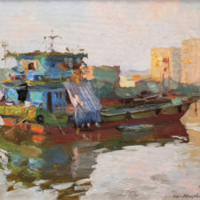 "American Legacy Fine Arts presents ""Sunset"" a painting by Kevin Macpherson."