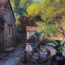 "American Legacy Fine Arts presents ""Alley Yard"" a painting by Mian Situ."