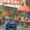 "American Legacy Fine Arts presents ""Market Place"" a painting by W. Jason Situ."