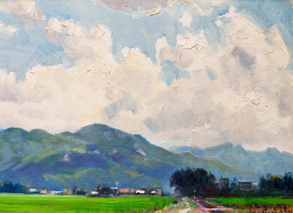 "American Legacy Fine Arts presents ""Summer Clouds"" a painting by W. Jason Situ."