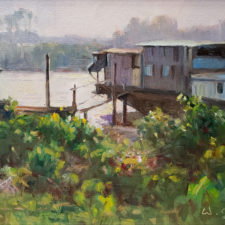 "American Legacy Fine Arts presents ""The Living Boats"" a painting by W. Jason Situ."