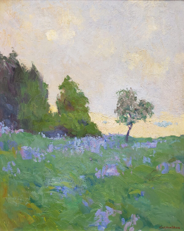 "American Legacy Fine Arts presents ""Saint Maries Fields; Afternoon Fog Effect"" a painting by Daniel W. Pinkham."