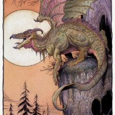 "American Legacy Fine Arts presents ""Sunset Dragon"" a painting by William Stout."