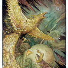 "American Legacy Fine Arts presents ""The Flame Bird"" a painting by William Stout."