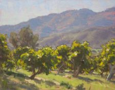American Legacy Fine Arts presents 'Avocado Orchard' a painting by Dan Schultz.