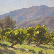 "American Legacy Fine Arts presents ""Avocado Orchard"" a painting by Dan Schultz."