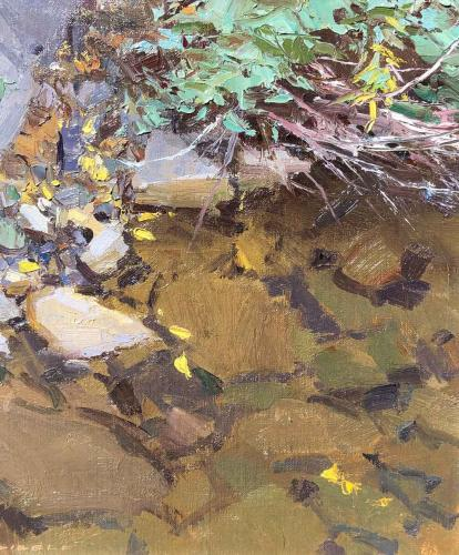 "American Legacy Fine Arts presents ""Rainy Creek"" a painting by David Dibble."