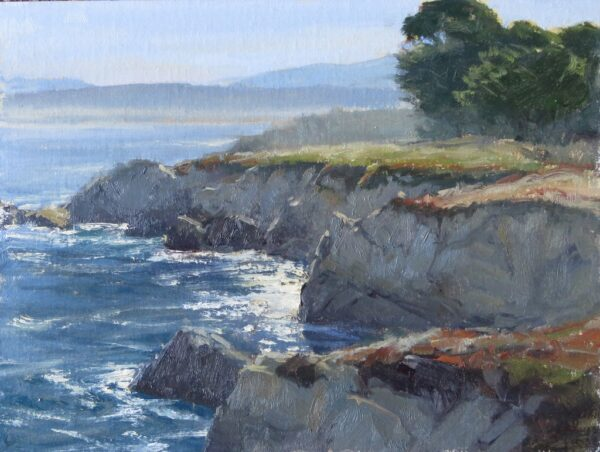 "American Legacy Fine Arts presents "" A Perfect Morning in pacific Grove"" a painting by Kathleen Dunphy"