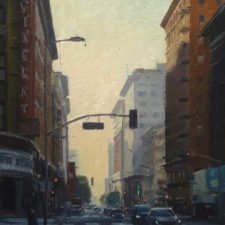 "American Legacy Fine Arts presents ""Seventh and Hill; Los Angeles"" a painting by Michael Obermeyer."