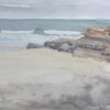 "American Legacy Fine Arts presents ""Becalmed; Dog Beach"" a painting by Robin Purcell."
