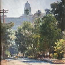 "American Legacy Fine Arts presents ""Pasadena Atmosphere"" a painting by W. Jason Situ."
