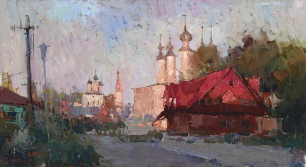 "American Legacy Fine Arts presents ""Suzdal, Russia"" a painting by Jove Wang."