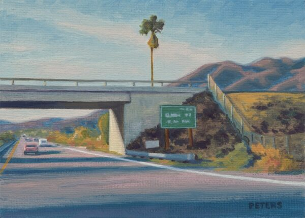 "American Legacy Fine Arts presents ""Freeway Palm"" a painting by Tony Peters."