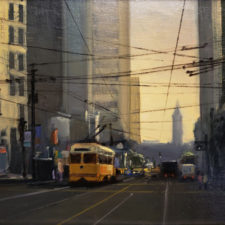 "American Legacy Fine Arts presents ""Morning on Market"" a painting by Brian Blood."