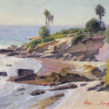 "American Legacy Fine Arts presents ""Laguna Beach"" a painting by Calvin Liang."