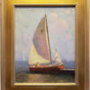 """American Legacy Fine Arts presents """"Sailboat"""" a painting by Calvin Liang."""