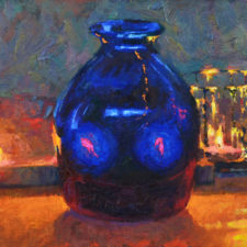 "American Legacy Fine Arts presents ""Blue Vision' a painting by Christopher Cook."