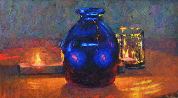 """American Legacy Fine Arts presents """"Blue Vision' a painting by Christopher Cook."""