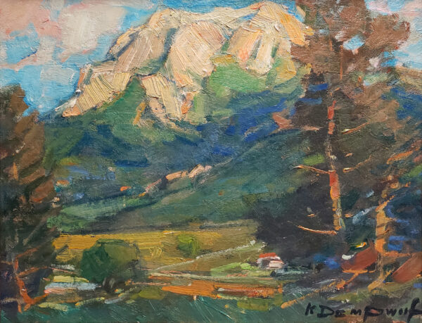 """American Legacy Fine Arts presents """"Hollister Peak"""" a painting by Karl Dempwolf."""