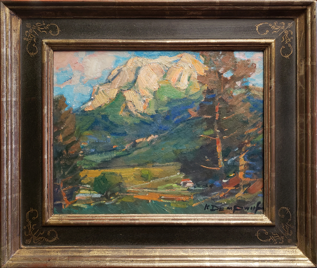 "American Legacy Fine Arts presents ""Hollister Peak"" a painting by Karl Dempwolf."
