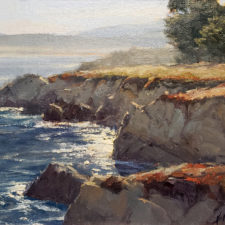 "American Legacy Fine Arts presents ""A Perfect Morning in Pacific Grove"" a painting by Kathleen Dunphy."