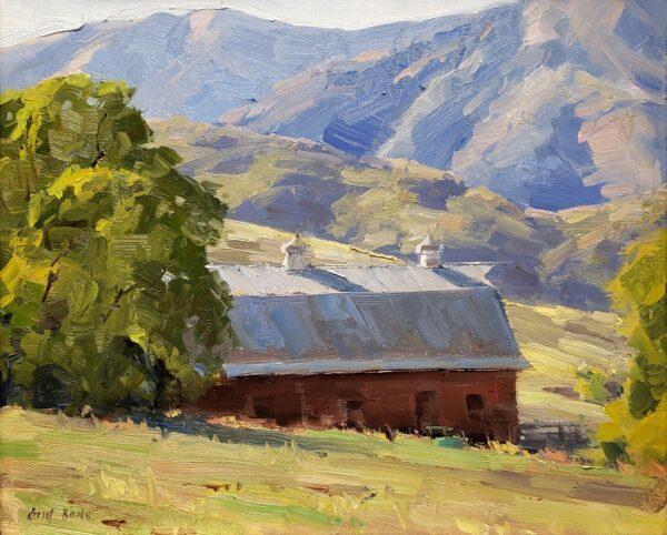 "American Legacy Fine Arts presents ""Foothill Barn"" a painting by Keith Bond."