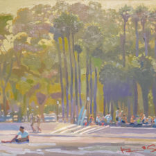 "American Legacy Fine Arts presents ""Surf Team"" a painting by Kevin A Short."