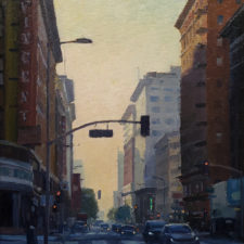 "American Legacy Fine Arts presents ""Seventh and Hill, Los Angeles"" a painting by Michael Obermeyer."