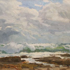 "American Legacy Fine Arts presents ""Storm Break, San Pedro"" a painting by Stephen Mirich."