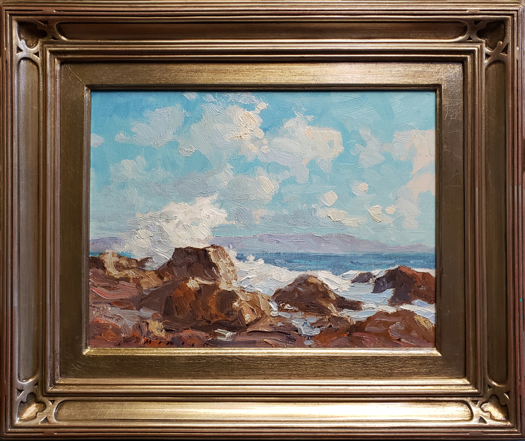 "American Legacy Fine Arts presents ""Summer Afternoon, Inspiration Point"" a painting by Stephen Mirich."