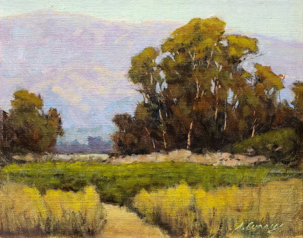 "American Legacy Fine Arts presents ""Carpenteria Foothills"" a painting by Steve Curry."