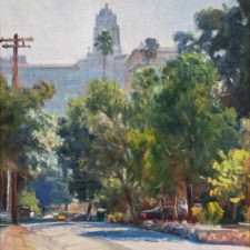 "American Legacy Fine Arts presents ""Pasadena Atmosphere"" a painting by W Jason Situ."