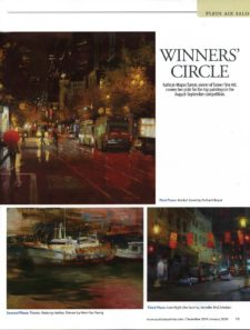 Nikita Budkov in Winners Circle Plein Air Salon, Plein Air Magazine December 2019