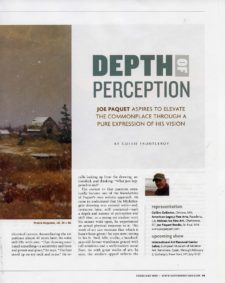 American Legacy Fine Arts presents Joe Paquet featured in Southwest Art Magazine, February 2020 Issue.