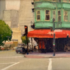"American Legacy Fine Arts presents ""Corner of Kearny & Columbus"" a painting by Brian Blood."