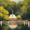 "American Legacy Fine Arts presents ""Kerbs Boathouse, Central Park"" a painting by Brian Blood."