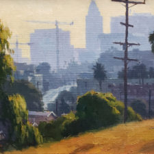 "American Legacy Fine Arts presents ""Downtown Lookout"" a painting by Michael Obermeyer."