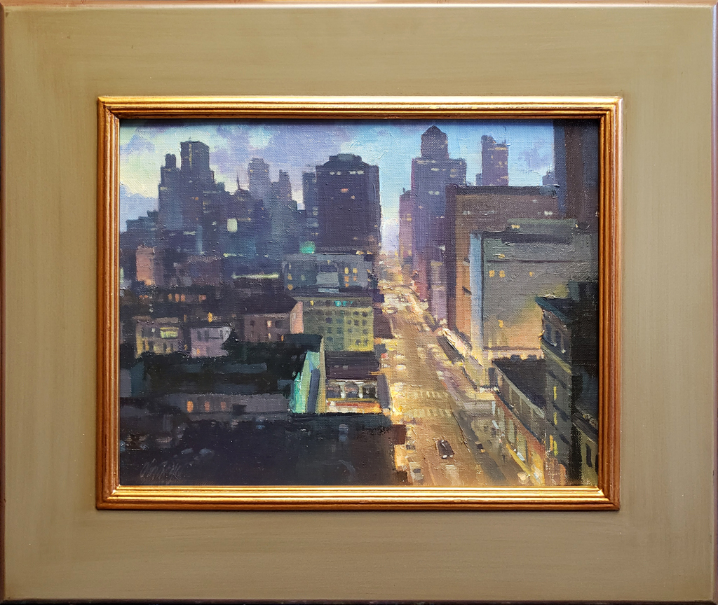 "American Legacy Fine Arts presents ""Nob Hill"" a painting by Michael Obermeyer."