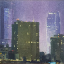 "American Legacy Fine Arts presents ""Purple Rain"" a painting by Michael Obermeyer."