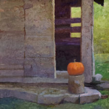 "American Legacy Fine Arts presents ""Evan's Barn"" a painting by Daniel W. Pinkham."