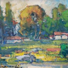 "American Legacy Fine Arts presents ""Gold Country; Columbia, CA"" a painting by Karl Dempwolf."