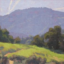 "American Legacy Fine Arts presents ""Hillside Trail"" a painting by Dan Schultz."