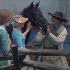 "American Legacy FIne Arts presents ""She;s a Beauty"" a painting by John Buxton."
