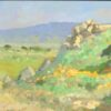 "American Legacy Fine Arts presents ""Poppy Trails of Tejon"" a painting by Peter Adams."