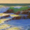 "American Legacy FIne Arts presents ""Golden Cove Breakers; Rancho Palos Verdes"" a painting by Peter Adams."